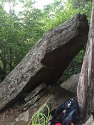Rock Climbing Photo: View from the top, boulderers can escape here and ...