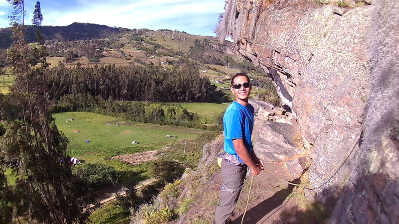 climbing in Suesca, Colombia