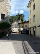 Rock Climbing Photo: The pleasant and narrow streets with Castello di A...
