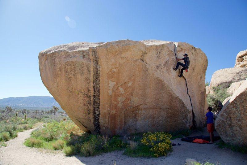 Douglas Goodrich on the boulder