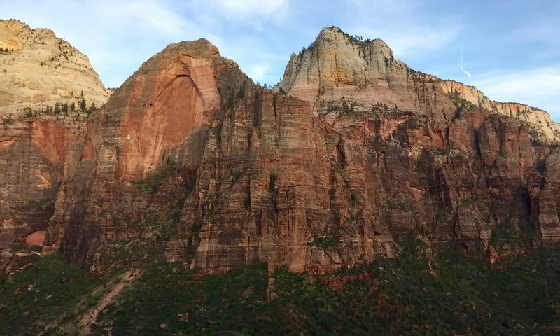 Red Arch Mtn as seen from Iron Messiah (on Spearhead)