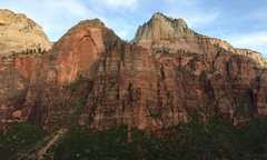 Rock Climbing Photo: Red Arch Mtn as seen from Iron Messiah (on Spearhe...