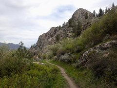 Rock Climbing Photo: Springtime on the lower trail 100