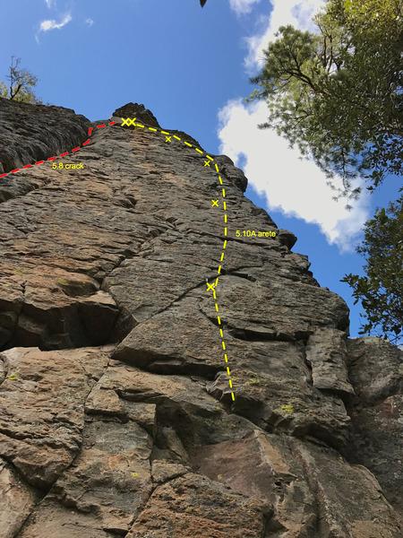 Rock Climbing Photo: 5.10A and a 5.8 crack