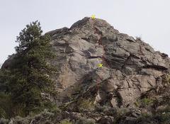 Rock Climbing Photo: The Direct Route topo