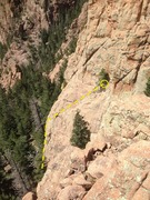 Rock Climbing Photo: The first pitch from the other side of the approac...