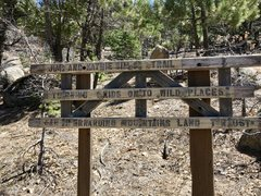 Rock Climbing Photo: The trailhead sign