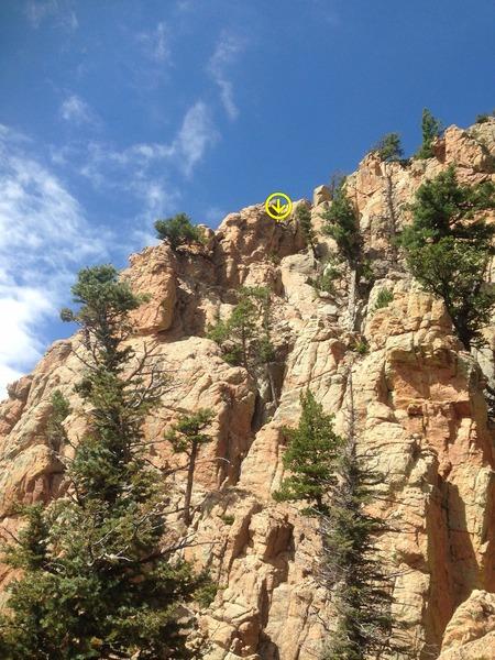 Rock Climbing Photo: A closer look at the rappel horn.