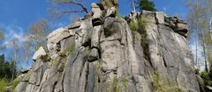 Rock Climbing Photo: left part of the crag