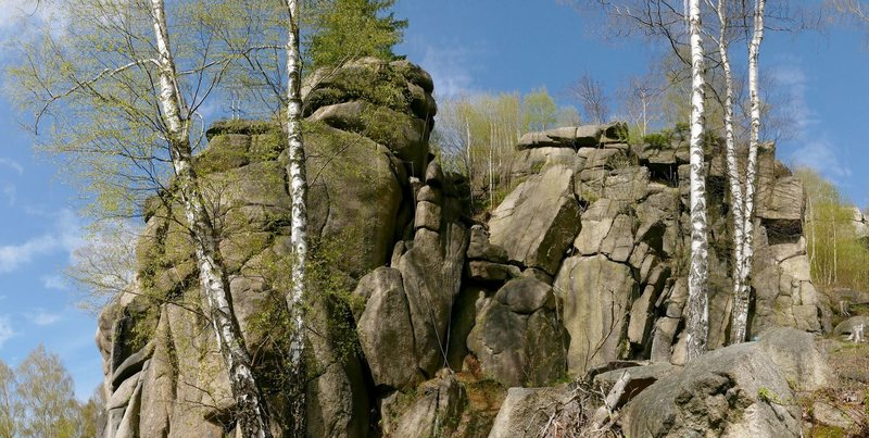 Pfeilerwand and right part of the crag