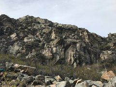 Rock Climbing Photo: Winter Wall - Right, from small pullout