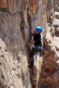 Rock Climbing Photo: Final 5.10 (+ish) moves before heading to easier g...