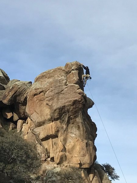 Trevor Olson topping out.
