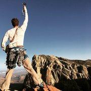 Rock Climbing Photo: The summit of Rainbow Buttress!