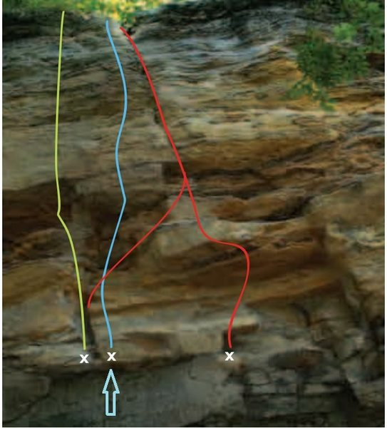 Rock Climbing Photo: line in blue.