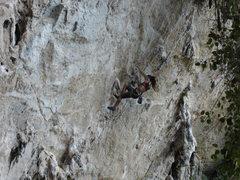 Rock Climbing Photo: Joanie St. Laurent cranking through