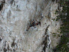 Rock Climbing Photo: Joanie St Laurent finding the knee bar!