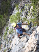 Rock Climbing Photo: Leading pitch 2