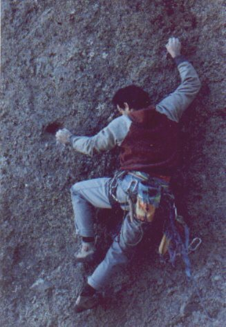 David Rubine on the first ascent of Future Shock.