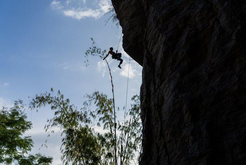 Me sam solakyan enjoying climbing with my friends at Bali.