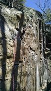 Rock Climbing Photo: After the lead... This is a really fun line to cli...