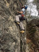 Rock Climbing Photo: reaching for the next hold on this awesome climb!