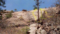 Rock Climbing Photo: West side of Army Slab.