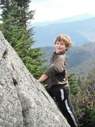 Rock Climbing Photo: Jonah between Cascade and Porter in the Adirondack...