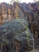 Rock Climbing Photo: Railway Runaway, and surrounding routes Bindlestif...