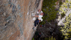Rock Climbing Photo: Hofer sticking the undercling at the end of the cr...