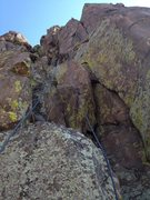 Rock Climbing Photo: A rope basically on the route.