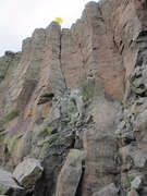 Rock Climbing Photo: Pete's Downclimb Obvious OW just left of ctr