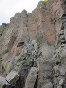 Rock Climbing Photo: 4 bolts marked