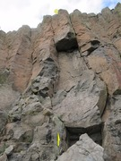Rock Climbing Photo: The whole route. Anchor chains on top.
