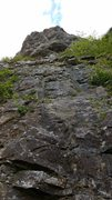 Rock Climbing Photo: View from the start. the route is one of very few ...