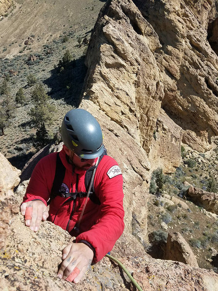 Rock Climbing Photo: Gabe after crossing the ridge from the Mud Pile to...