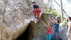 Rock Climbing Photo: The unique mantle