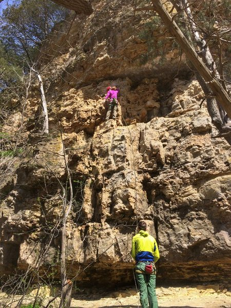 Rock Climbing Photo: At the dirty ledge.