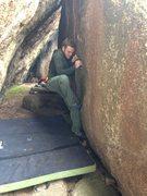 Rock Climbing Photo: Sam at the start.
