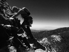 Rock Climbing Photo: High in the Tahquitz back country on the Altar But...