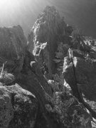Rock Climbing Photo: Julian getting alpine on The Altar Buttress!
