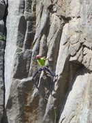 Rock Climbing Photo: Aaron almost through the hard part....