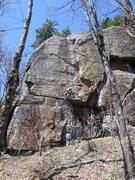 Rock Climbing Photo: Climber on Zah Dude, Chatiemac Cliff.