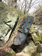 Rock Climbing Photo: Sliver is the blue line, the red line is Shard.