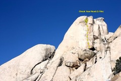 Rock Climbing Photo: Check Your Head (5.10a TR), Joshua Tree NP