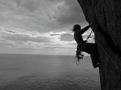 Rock Climbing Photo: Emma seconding through some of the best exposure i...