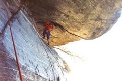Rock Climbing Photo: first attempt on day of discovery in 1980s.  That ...