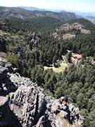 Rock Climbing Photo: Mauricio Gonzalez on the final ridgeline towards t...