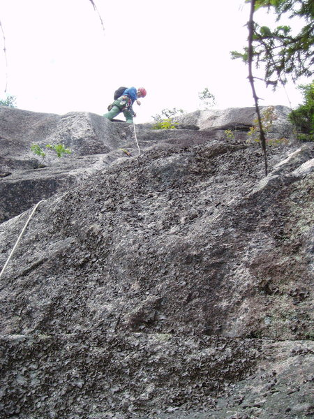 Rock Climbing Photo: RW about to go off route...maybe we call it the &q...