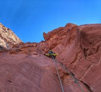 Rock Climbing Photo: Tim Keyt cruising the 2nd pitch